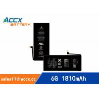 Cheap ACCX brand new high quality li-polymer internal mobile phone battery for IPhone 6G with high capacity of 1810mAh 3.8V for sale