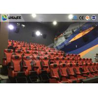 Best Red Dynamic sitting 4D Movie Theater  , Intellectualized Control , Momentum With Electric wholesale