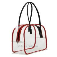 Best Deluxe High Transparency PVC Tote Bag Red PVC Tube Trim For Multi Purposes wholesale