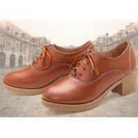 Best Leather Thick Comfortable Casual Shoes High Heel With Lace Korean Leisure Comfort Autumn wholesale