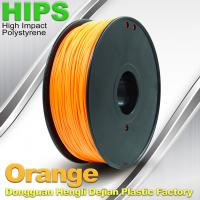 Best Markerbot , Cubify  3D Printing Materials HIPS Filament 1.75mm / 3.0mm Orange Color wholesale