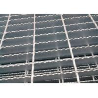 Best Welded Serrated Steel Bar Grating , Various Size Heavy Duty Bar Grating wholesale
