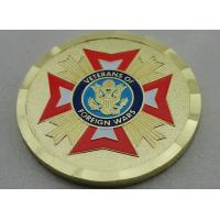 China Zinc Alloy Gold Plating Veterans of Foreign Wars Personalized Coins with Soft Enamel, for Commemorative on sale