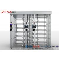 Best 304 Stainless Steel Turnstile Full Height Brushed Surface Treatment With Double Lane wholesale
