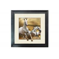 Cheap Running Horse Image 3D Lenticular Printing Service MDP Frame 5D Effect for sale