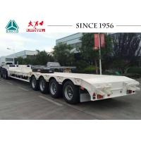 China 70 Tons 4 Axle Low Bed Trailer Lowboy Trailer To Carry Container And Equipment on sale