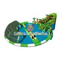 Best Protection Coating Inflatable Water Park And Slide / TUV Portable Water Park Pool wholesale
