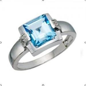 Best Blue topaz diamond ring wholesale