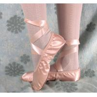 Best pink and nude satin ballet dance shoes ballet slipper with ribbons for children and adult wholesale