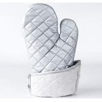 Best Washable Silver Oven Gloves , Heat Proof Kitchen Gloves Heat Transfer Printing wholesale