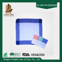 Best Strong Absorption Kitchen Tea Towels White and Blue Checker Dish Towels 35*55cm wholesale