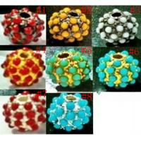 Best 8-16mm Multicolor Alloy Pave Beads,Shamballa Beads,Pave Crystal Beads Wholesale wholesale
