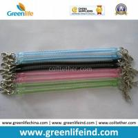 Best Hot Selling Transparent Slim Long Coiled Cable W/Metal Hooks wholesale