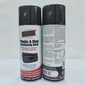 Best Indoor Outdoor Black Aerosol Spray Paint Anti Faded For Plastic Renews / Revitalizes wholesale