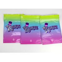 Best Rainbow Smell Proof Plastic Herb Bags Zip Lock Type Oem/Odm Available wholesale