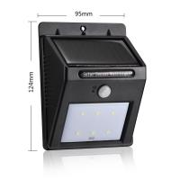 Buy cheap Solar Power Rechargeable Led Wall Light With PIR Motion Sensor 8 / 16 LEDs Auto Control from wholesalers