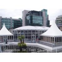 Best Large Trade Show Canopy Tents Permanent Use With Transparent Glass Walls wholesale