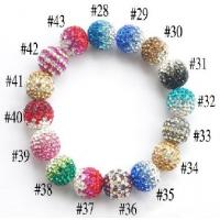 Best 12mm Clay Pave Beads, Shamballa Crystal Ball For Necklace ,Ring, Bracelet, Earring wholesale