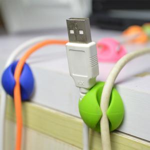 Best Round Plastic Cable Drop Clip Adversive Multipurpose Cord Clip For Office wholesale