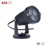 Best IP40 round black 45 degree lens outdoor 3W LED garden lights for hotel wholesale
