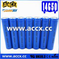 Cheap cordless telephone battery ICR14650 3.7V 1050mAh li-ion batteries 14650, 14500, 18500, 18650, 26650 for led light for sale