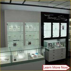 Best jewelry shop glass wood showcase design wholesale
