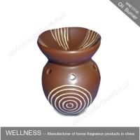 Best Different Classic Shaped Ceramic Aroma Oil Burner With Spiral Pattern wholesale