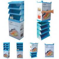 Best 250g Grey Paper Cardboard Cosmetic Display Stands Easy Assemble wholesale