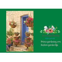 Best Wall Wire Hanging Flower Baskets With Recycled Post Consumer Plastic Liner wholesale