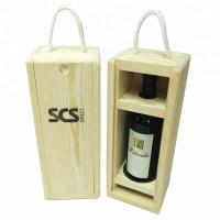 Best Wooden Empty Wine Gift Boxes Customized  Logo 34*13.3*12cm With Top Grade wholesale
