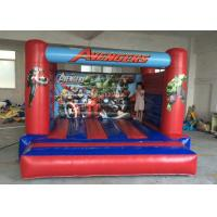 Best Superman Printed Indoor Bouncy Castle Flame Retardant Featuring SGS Approved wholesale