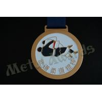 Commercial Custom Wrestling Medals , School Sports Medals Shiny Nickel Plating