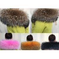 Best Oversized Genuine Raccoon Fur Collar Detachable Warmer Soft For Winter Jacket wholesale