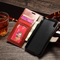Sony M4 Aqua Durable Sony Xperia Leather Case Wallet Stand Handmade Anti - Dirt