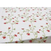Best Multi Colored Floral Embroidered Lace Fabrics , Embroidery Mesh Fabric For Party wholesale