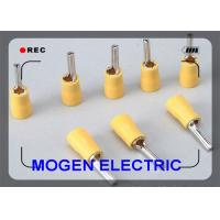 Best 4 - 6mm Plating Quick Disconnect Wire Terminals , Yellow Insulated Pin Terminal wholesale