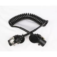 China 24v 7 Pole Trailer Cable EBS Curly Cord Cable With Nylon Plug 30T Max Payload on sale