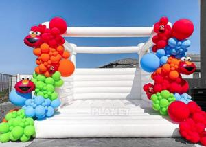Best Party Events Used Commercial Grade 1000D PVC Tarpaulin Bouncer Inflatable Wedding Bouncy Castle White Bounce House wholesale