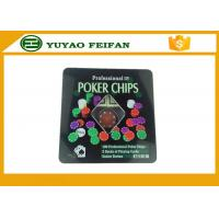 Best 100 Pcs Tin Box Texas Holdem Luxury Poker Chips Set Personalized Poker Chips wholesale