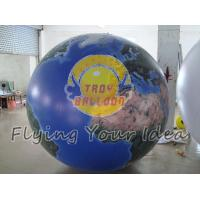 Best Blue Inflatable Earth Balloons Globe with 540*1080 dpi high resolution digital printing wholesale