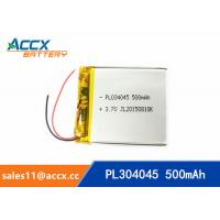 Best 304050pl 3.7V lithium polymer battery with 500mAh li-ion rechargeable battery lipo battery wholesale