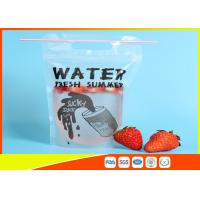 Best Plastic Beverage Juice Stand Up Ziplock Bags With Hanging Holes , 450-500ml wholesale