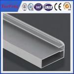 Best holes drilling anodized shiny machined polish shower door frame parts aluminum profile wholesale