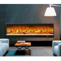 Details of restaurant decor wall fireplace heater with