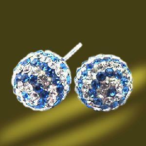 Best Crystal Silver Stud Earrings (ESA3013A) wholesale