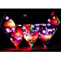 Best 3D RGB booth stage triangle led screen, triangular dj screen booth table wholesale