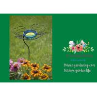 """Cheap Decorative Steel Garden Stakes , Metal Butterfly Feeder Garden Stakes 13-1/2"""" in for sale"""