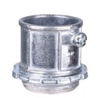 China Aluminum Electrical Conduit Fittings , EMT Pipe Connectors Polished Finish on sale