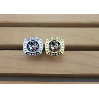 Best Military Metal 3D Police Badge Emblem Ring With Rhinestones Gold Plating wholesale
