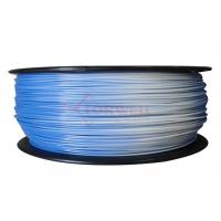 Cheap 1.75MM Blue To White Color Changing Filament PLA / 3D Printer Support Material for sale